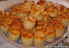 Pogi (túró-vaj-liszt 1:1,+ élesztő) Caramel, Hungarian Recipes, Greens Recipe, Scones, Shrimp, Bakery, Muffin, Healthy Recipes, Healthy Food