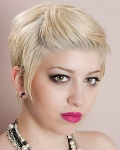 Short Pin Back Hair Style 2014