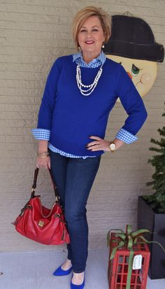 Fashion over 40 for the everyday woman.  Jeans and Pearls