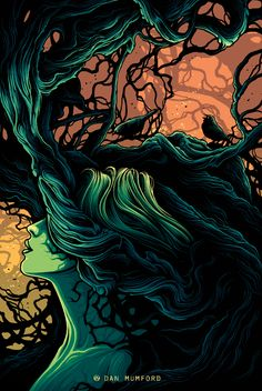 The Geeky Nerfherder: Cool Art: 'Woodland' by Dan Mumford