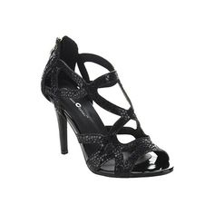 Women's Da Viccino Valentine-2 Strappy Sandal - Black Casual (660 ZAR) ❤ liked on Polyvore featuring shoes, sandals, black, cage shoes, casual, black strappy shoes, black caged sandals, vegan sandals, strappy sandals and black evening shoes