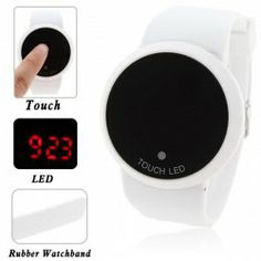 Stylish Digital Watch with Red LED Multi-Function Dound Dial Silicone Band (White) Cheap Watches For Men, Red Led, Sammy Dress, Men's Watches, Digital Watch, Alarm Clock, Watch Bands, Stylish, Places
