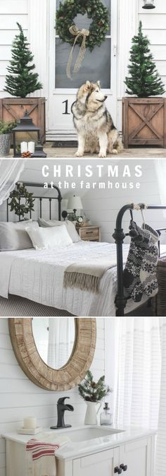 Take a tour of Liz Fourez's Indiana farmhouse all dressed up for the holidays! See more photos at http://LoveGrowsWild.com