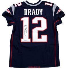 Tom Brady Autographed New England Patriots Nike  Elite  Blue Authentic Tom  Brady Autograph 1d0e016f5