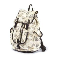 Owl Print Backpack