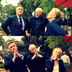 Meryl Streep & Alec Baldwin & Steve Martin | 'It's Complicated' ♥ 2009 | On Set  Fav film! They need to make another movie together!