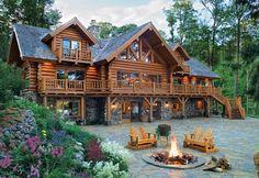 Dream home cabin style