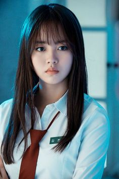 Kim So-hyun : Let's Fight Ghost (Korean Drama) Korean Beauty, Asian Beauty, Korean Bangs, Lets Fight Ghost, Bring It On Ghost, Kim Sohyun, Wispy Bangs, Kim Yoo Jung, Cute Asian Girls