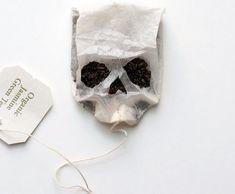 skull tea bag / would die for a cuppa ? Reece King, Crane, Charlie Cox, Broken White, Jasmine Green Tea, Jason Grace, Skull And Bones, The Villain, Skull Art