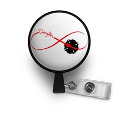 Infinity Thin Red Line Daughter Retractable ID Badge Reel