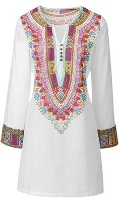 Wear an embroidered caftan as your hippie wedding dress - READ ABOUT OTHER GROOVY IDEAS FOR YOUR BOHO WEDDING by clicking on the photo or going to Boomerinas.com -http://boomerinas.com/2012/06/hippie-wedding-dresses-for-a-casual-bohemian-chic-celebration/