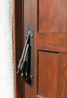 Handle for the door to my mancave! Knobs And Knockers, Door Knobs, Door Handles, Door Pulls, Revolving Door, Gun Rooms, Cool Doors, Woman Cave, Man Cave Garage
