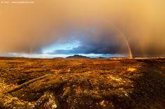 Arcobaleno e luce dorata, Islanda - Foto scattata con α7S  Sito Web: www.juzaphoto.com