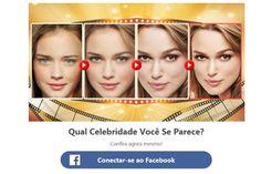 'Qual celebridade você se parece' não é vírus, mas pega dados do Facebook