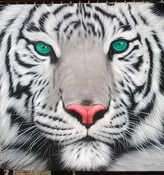 "White Tiger painting oil painting on canvas 40""X40"" #OilPaintingOnCanvas"