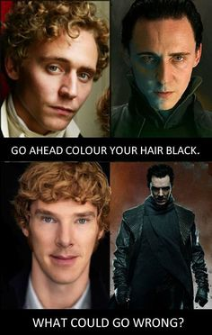 Color your hair black… <== XD it all makes sense.