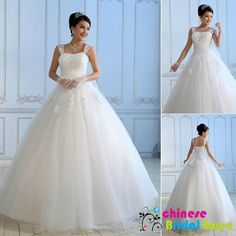 Style 7020, Stunning Organza Ball Gown Square Chinese Wedding Dress by CBG.