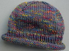 X Marks the Spot pattern by YaYa Lovestoknit A quick to knit beanie style hat with rolled edge and ribbing to keep it from blowing off in the wind. The added interest of the X is created at the top using simple back-to-back decreases. Easy Knit Hat, Knit Beanie Hat, Crochet Beanie, Knit Or Crochet, Knitted Hats, Crochet Hats, Beanies, Crochet Ideas, Beanie Knitting Patterns Free