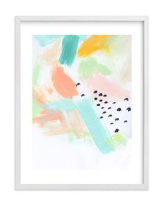 """""""Happy Storm"""" - Art Print by Melanie Severin in beautiful frame options and a variety of sizes."""