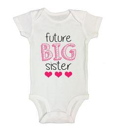 Future Big Sister Funny Kids Onesie