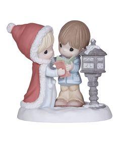 Look what I found on #zulily! Winter Mailbox Couple Figurine #zulilyfinds