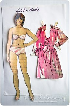 Swedish paper doll of Lill-Babs, an actress and singer / craftandcreativity