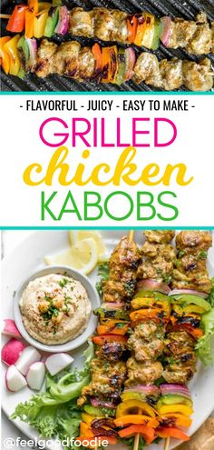 These Grilled Chicken Kabobs are flavorful, juicy & easy to make! The chicken is marinated with a special mix of Mediterranean spices, plus olive oil, lemon juice and garlic. Grilling Recipes, Lunch Recipes, Low Carb Recipes, Dinner Recipes, Weeknight Meals, Easy Meals, Grilled Chicken Kabobs, Barbecue, Mediterranean Spices