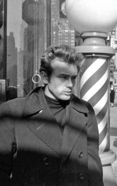 James Dean in New York City, 1955.