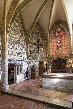La chapelle du château de Marguerite de Bourgogne. Couches -les-Mines.Saône-et-Loire. Bourgogne