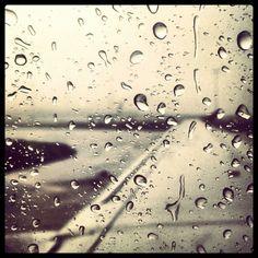 Rain Drops on Glass....
