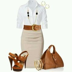 Classic business casual yet very feminine.