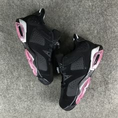 cheap Air Jordan 6 Low GG Sun Blush AAA Unisex shoes  black and  pink e3132a3b1c