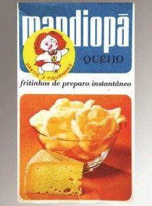 Mandiopã Queijo embalagem tradicional antiga década de 1970