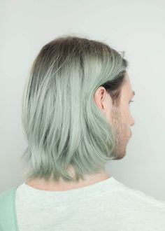 Best ideas for pastel hair peach mint green Green Hair Men, Pastel Green Hair, Pink Ombre Hair, Mint Hair, Blue Hair, Colorful Hair, Mens Hair Colour, Front Hair Styles, Curly Wedding Hair