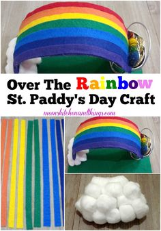 Over The Rainbow St. Fabric Stiffener, Up Balloons, St Paddys Day, Over The Rainbow, Fun Crafts, Kid, Crafty, Activities, Kitchen