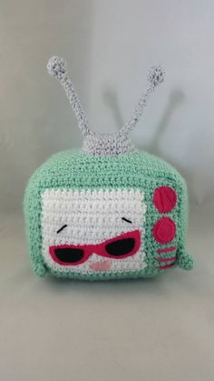 Crochet shopkins inspired teenie tv by LeftysDesigns on Etsy