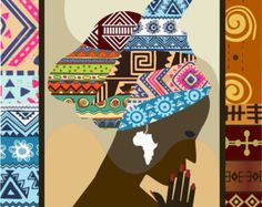 Mujer africana arte arte de Afrocentric Afrocentric por iQstudio