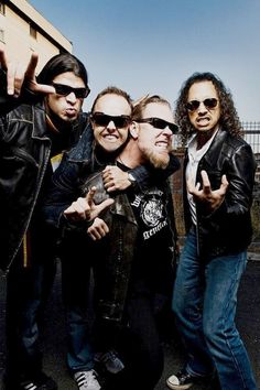 Metallica....listening to some songs.