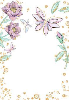 Butterflies in blossom - Birthday Invitation Template (free) Happy Birthday Funny, Happy Birthday Cards, Card Birthday, Funny Happy, Birthday Greetings, Birthday Ideas, Free Birthday, Birthday Banners, Birthday Parties