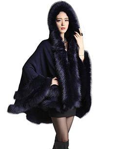 Kranda Women's Faux Fox Fur Trim Hood…
