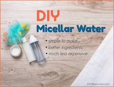 DIY Micellar Water: What is Micellar Water and How to Make Your Own -Try this recipe! #BakingSodaFace Homemade Moisturizer, Homemade Skin Care, Homemade Beauty Products, Diy Skin Care, Skin Care Tips, Homemade Blush, Homemade Soaps, Skin Tips, Organic Skin Care