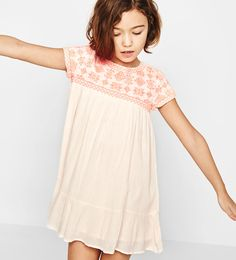 Neon embroidered dress-Dresses-DRESSES AND JUMPSUITS-GIRL   4-14 years-KIDS   ZARA United States