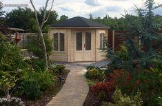 Corner Summer House, Garden Paths, My House, Gazebo, Garden Design, Shed, Design Ideas, Outdoor Structures, Cabin