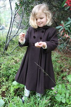 Girl's traditional wool coat | Girls Traditional Classic Wool ...