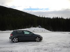 VW Parked in the Snow from our drive along the scenic Cassiar Highway http://www.theconstantrambler.com/cassiar-highway-road-trip-planner-drive-bc/