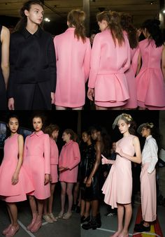 Simone Rocha AW13. Love everything about that pink including those amazing ankle boots.