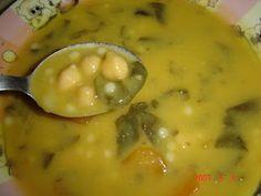 Um cantinho na cozinha: Sopa de grão com espinafres
