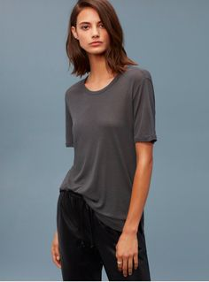 Aritzia - Wilfred Free Divina Tee - ANY LONG HIGHCUT TEE IN NEUTRAL COLOURS