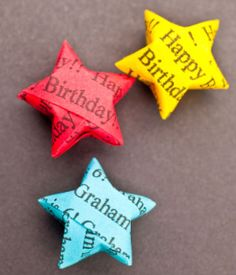 Paper stars- I love these :)