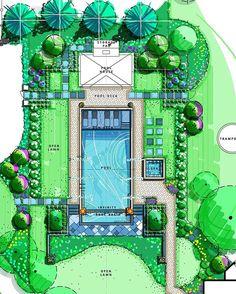 an in -for an in - floating pavilion, pavilion bridge, floating planters, freehand landscape - Private Resort DWG Design Block for AutoCAD Landscape Architecture Design, Landscape Plans, Architecture Plan, Architecture Portfolio, Plane 2, Autocad, Garden Types, Floating, Landscape Drawings